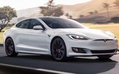 Tesla Model S 100D - white (BEV)